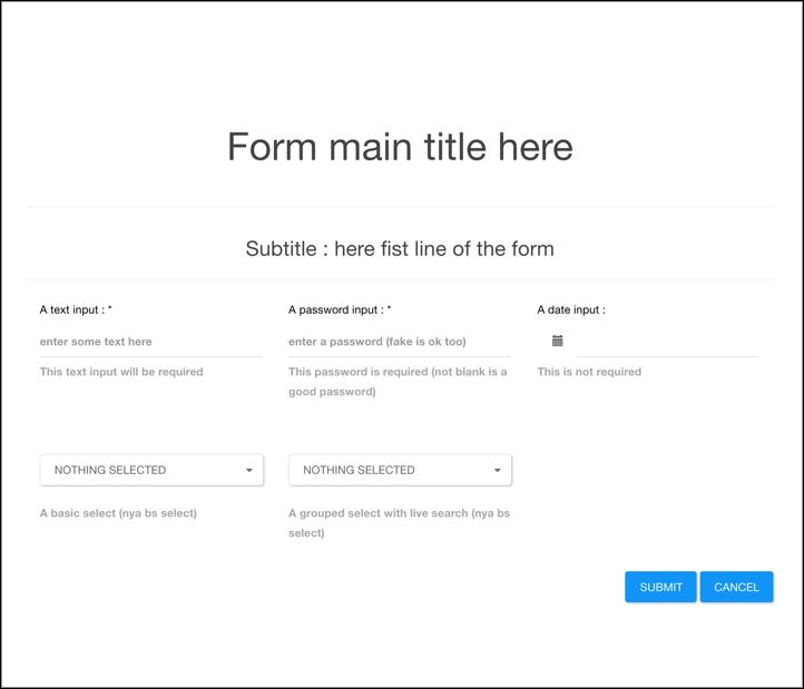 Easy form generator